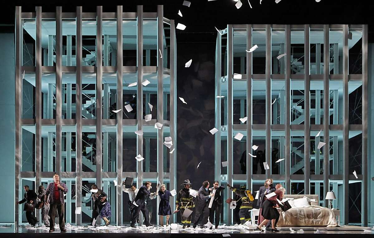 """Chaos in the Twin Towers in a scene from SF Opera's, """"Heart of a Soldier."""""""
