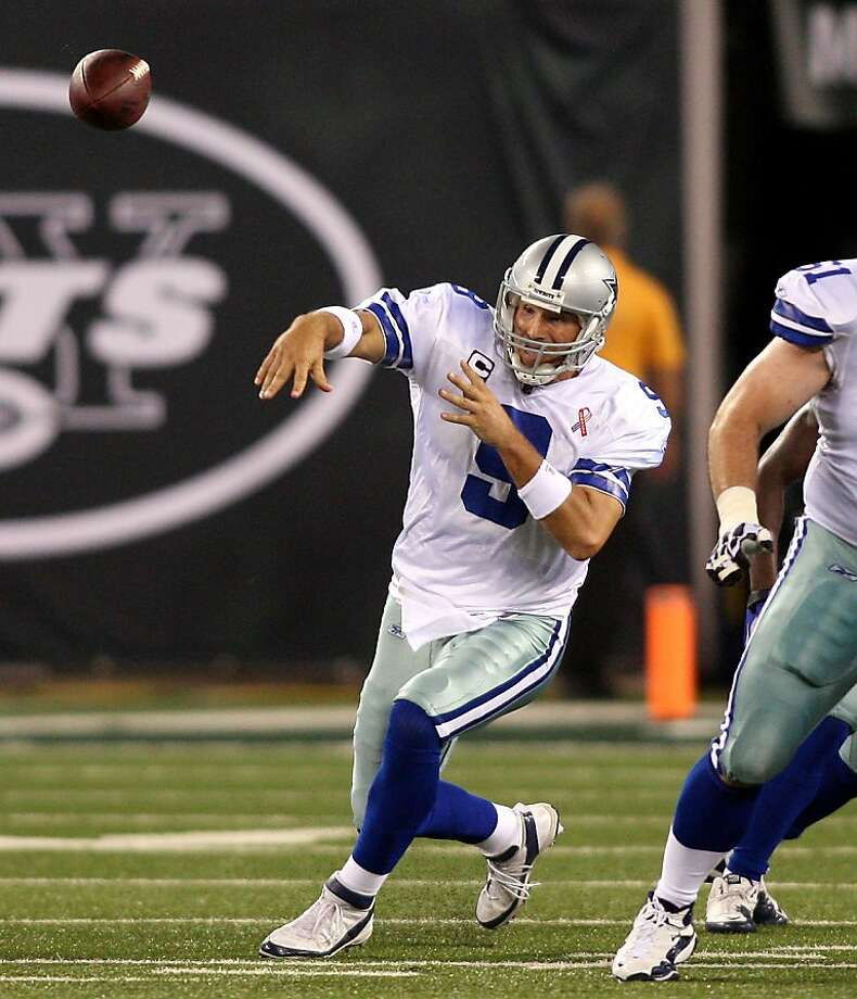 Dallas Cowboys quarterback Tony Romo throws a pass against the New York Jets during an NFL game at MetLife Stadium in East Rutherford, New Jersey, Sunday, September 11, 2011. (Joe Rogate/Newsday/MCT) Photo: Joe Rogate, MCT