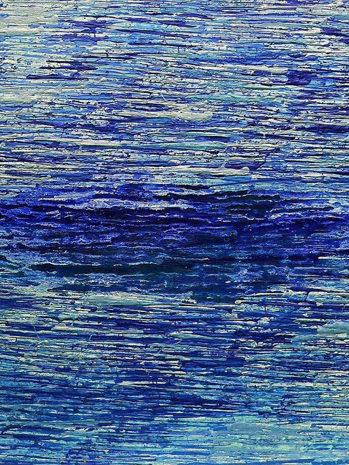 """Mixed media artist Rozita Fogelman's abstract studies of water and earth are part of the """"Transient Spaces"""" exhibition at Float Gallery in Oakland. Photo: Float Gallery"""