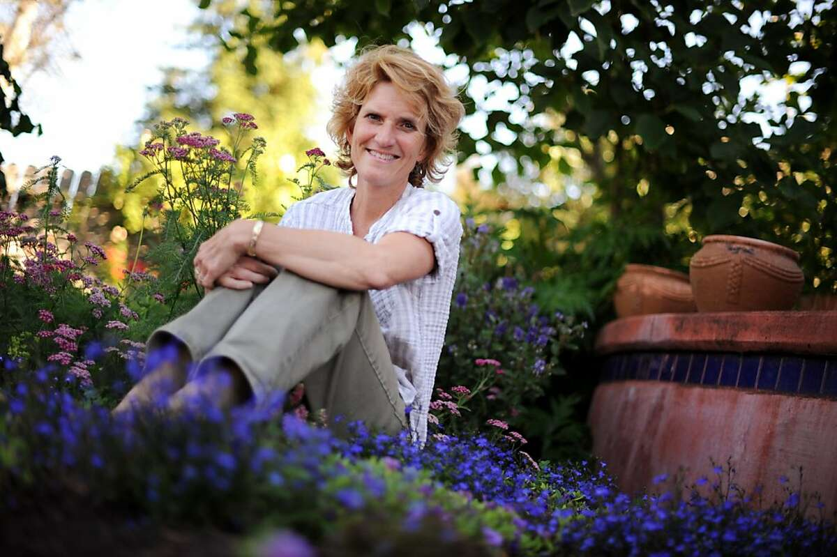 Gardening tutor Mary Frost at her home in Santa Rosa, Calif. July 20, 2011.
