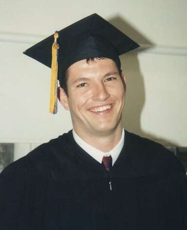 FILE--Mark Bingham, 31, shown in this 1993 graduation photograph from the University of California, Berkeley, was killed aboard United Flight 93 from Newark, N.J. to San Francisco Tuesday, Sept. 11, 2001, after it crashed outside of Pittsburgh. (AP Photo/Contra Costa Times, handout). ALSO RAN: 09/17/2001, 9/23/2001, ALSO RAN 05/24/02 Ran on: 05-03-2011 Mark Bingham, shown in this 1993 graduation photograph from UC Berkeley, died at 31. Ran on: 05-03-2011 Mark Bingham, shown in this 1993 graduation photograph from UC Berkeley, died at 31. Photo: Associated Press