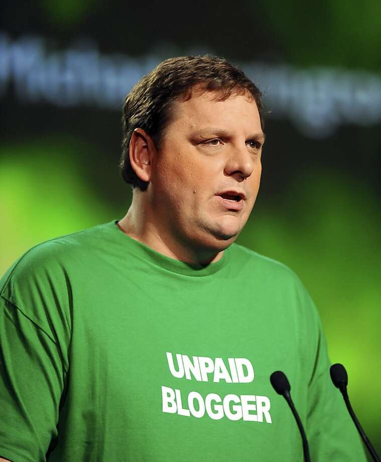 "Michael Arrington, founder of TechCrunch, speaks at the TechCrunch Disrupt SF 2011 conference in San Francisco, California, U.S., on Monday, Sept. 12, 2011. More than 2,000 attendees are expected at the conference and 30 startup companies are planning to launch as part of the ""Startup Battlefield"" program. Photographer: Noah Berger/Bloomberg *** Local Caption *** Michael Arrington Photo: Noah Berger, Bloomberg"