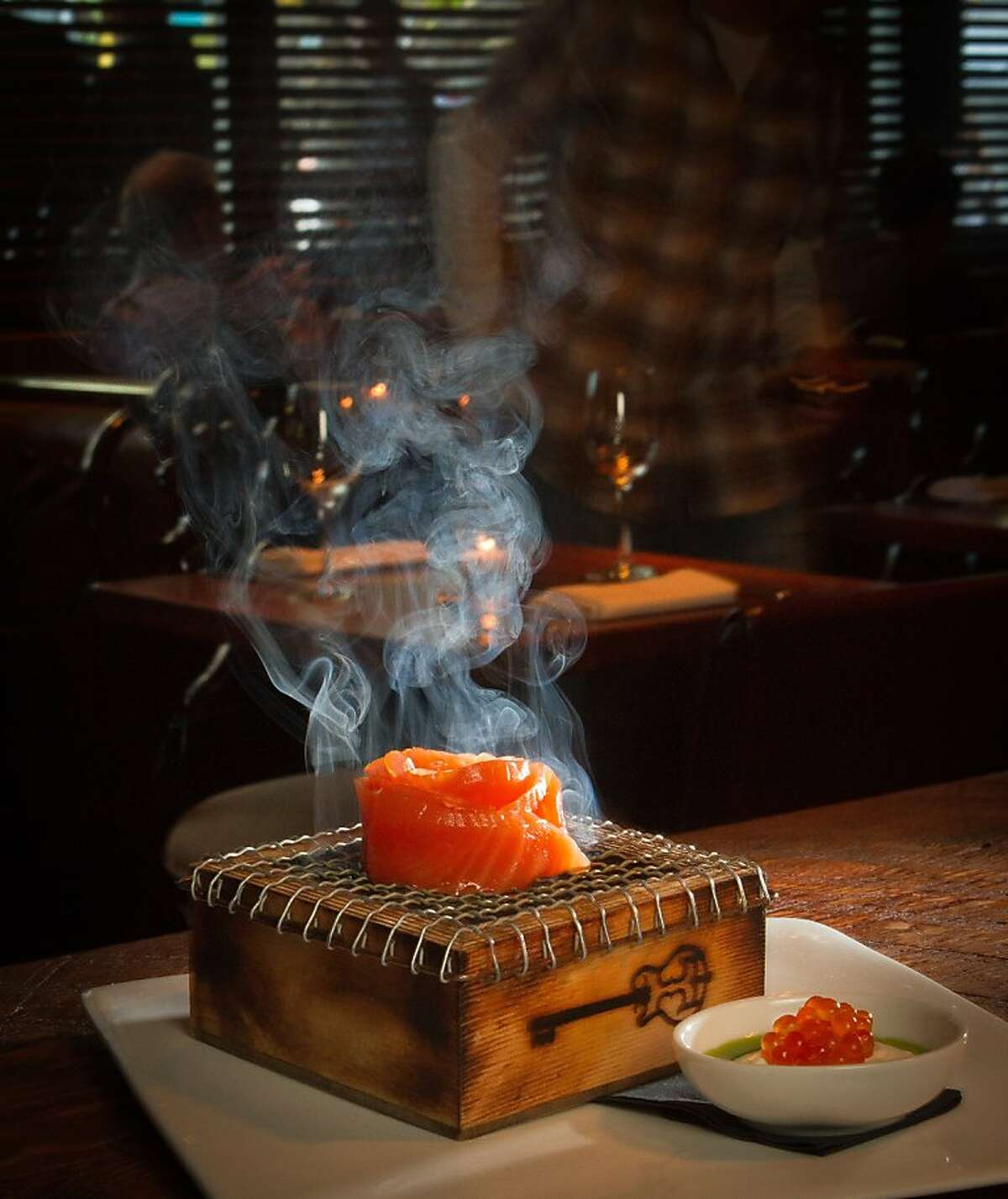 The Smoking Salmon appetizer at Chambers Eat + Drink restaurant in San Francisco, Calif., is seen on August 30th, 2011.