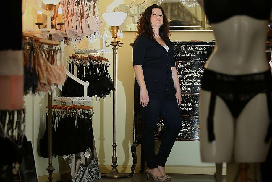 Yelena Blumin shops at Alla Prima Lingerie, one of her favorite stores in San Francisco, Calif.,  on Wednesday, August 24, 2011. Photo: Liz Hafalia, The Chronicle