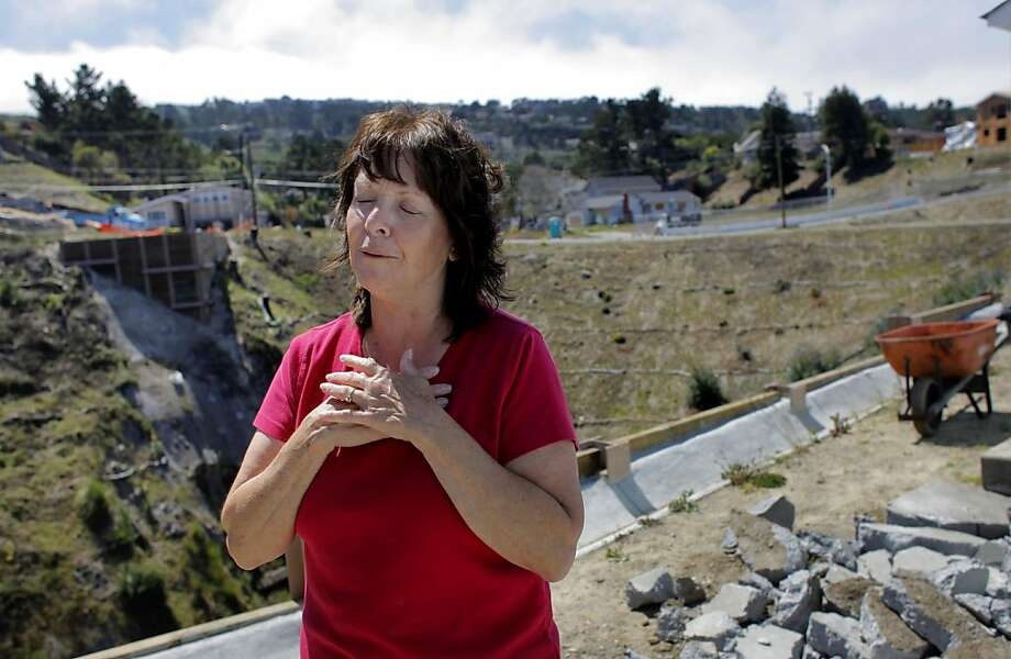 Danelle Bishop talks of how grateful she is that her family and home survived the pipeline explosion, Thursday August 11, 2011, in San Bruno, Calif. The explosion killed eight people and destroyed or damaged over 200 homes around the Bishops. Photo: Lacy Atkins, The Chronicle