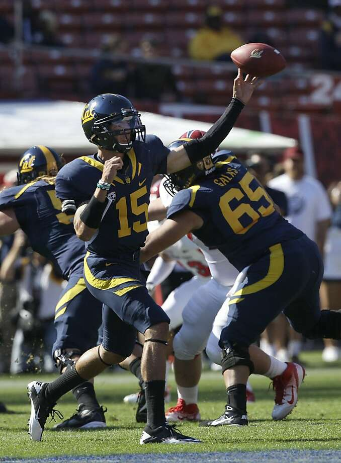 California quarterback Zach Maynard (15) against Fresno State in an NCAA college football game in San Francisco, Saturday, Sept. 3, 2011. (AP Photo/Jeff Chiu) Photo: Jeff Chiu, AP
