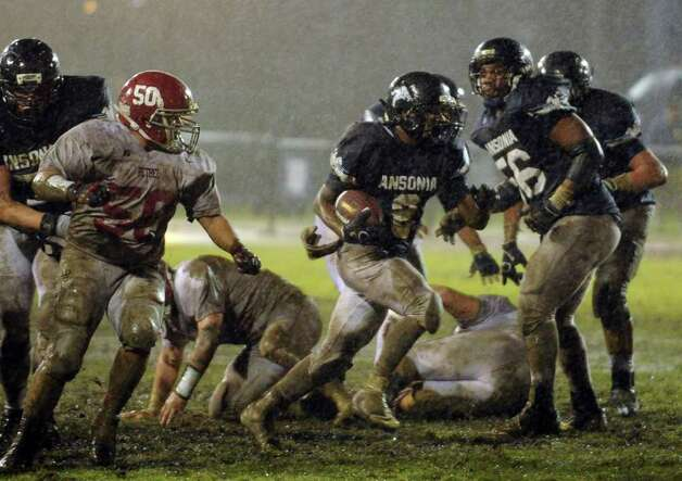 Ansonia High School vs. Bethel High School in the Class M Football quarterfinal Tuesday, Nov. 29, 2011 at Nolan Field in Ansonia, Conn. Photo: Autumn Driscoll / Connecticut Post