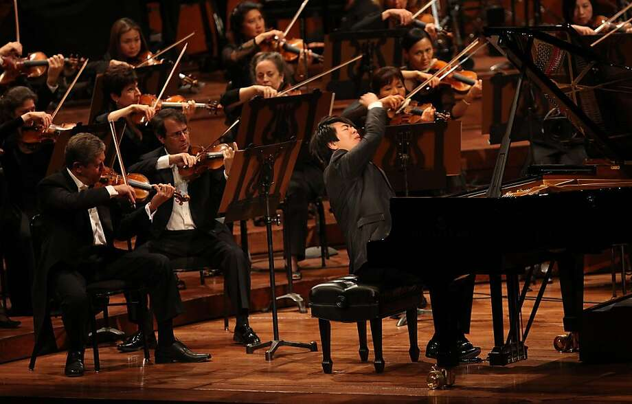 Pianist Lang Lang during the100th anniversary of the SF Syphony in San Francisco, Calif., on Thursday, September 7, 2011. Photo: Liz Hafalia, The Chronicle