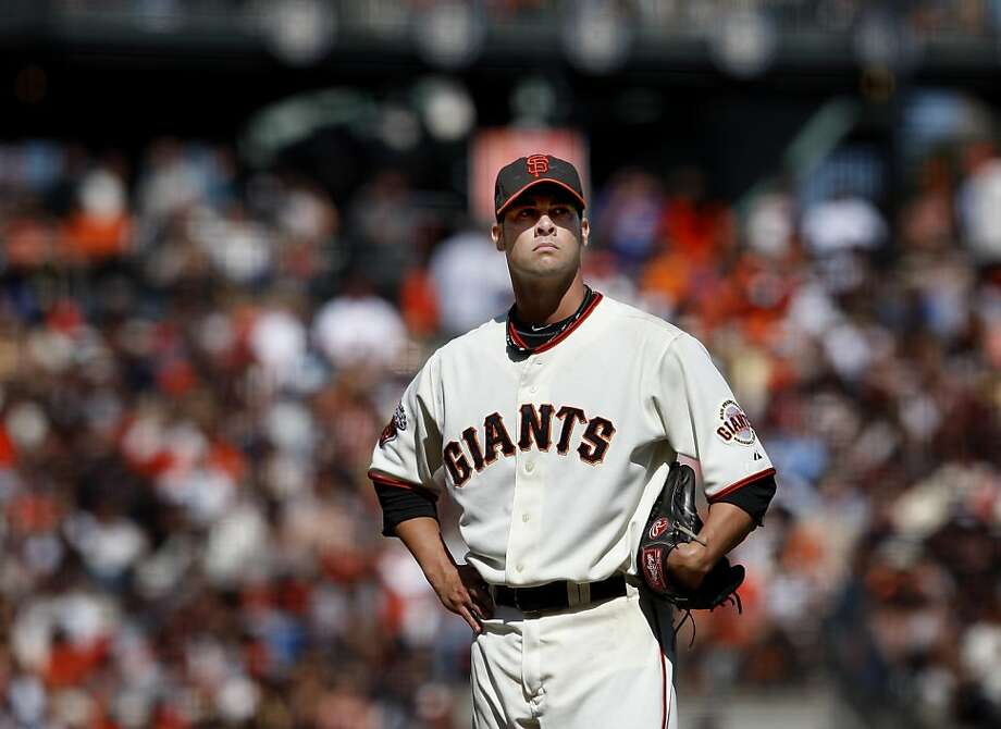 Ryan Vogelsong waits for his manager to come relieve him after he gave up a run late in the game. The San Francisco Giants in action against the Arizona Diamondbacks Sunday September 4, 2011 at AT&T Park. Photo: Brant Ward, The Chronicle