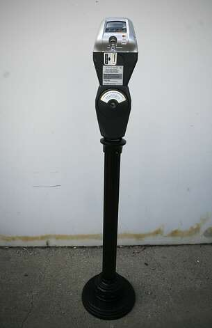 A new parking meter is seen in a warehouse in San Francisco, Calif. on Monday July 26, 2010. The city of San Francisco will install the new meters in Hayes Valley on Tuesday July 27, 2010.    Ran on: 08-29-2010 Photo caption Dummy text goes here. Dummy text goes here. Dummy text goes here. Dummy text goes here. Dummy text goes here. Dummy text goes here. Dummy text goes here. Dummy text goes here.###Photo: sfinsider29_PH21279929600SFC###Live Caption:A new parking meter is seen in a warehouse in San Francisco, Calif. on Monday July 26, 2010. The city of San Francisco will install the new meters in Hayes Valley on Tuesday July 27, 2010.###Caption History:A new parking meter is seen in a warehouse in San Francisco, Calif. on Monday July 26, 2010. The city of San Francisco will install the new meters in Hayes Valley on Tuesday July 27, 2010.###Notes:###Special Instructions:MANDATORY CREDIT FOR PHOTOG AND SF CHRONICLE-NO SALES-MAGS OUT-INTERNET__OUT-TV OUT Ran on: 09-08-2010 Photo caption Dummy text goes here. Dummy text goes here. Dummy text goes here. Dummy text goes here. Dummy text goes here. Dummy text goes here. Dummy text goes here. Dummy text goes here.###Photo: sfinsider29_PH21279929600SFC###Live Caption:A new parking meter is seen in a warehouse in San Francisco, Calif. on Monday July 26, 2010. The city of San Francisco will install the new meters in Hayes Valley on Tuesday July 27, 2010.###Caption History:A new parking meter is seen in a warehouse in San Francisco, Calif. on Monday July 26, 2010. The city of San Francisco will install the new meters in Hayes Valley on Tuesday July 27, 2010.###Notes:###Special Instructions:MANDATORY CREDIT FOR PHOTOG AND SF CHRONICLE-NO SALES-MAGS OUT-INTERNET__OUT-TV OUT Photo: Jasna Hodzic, The Chronicle