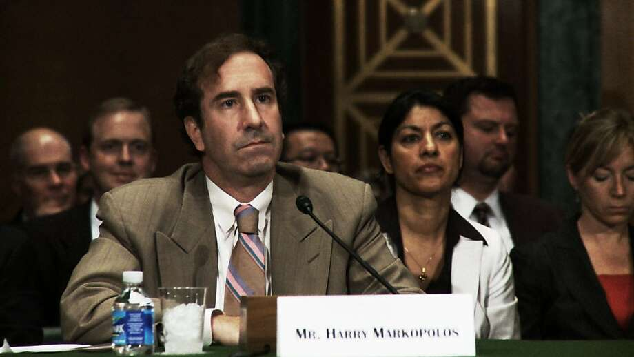 Harry Markopolos provides a testimony during a Senate Banking Committee hearing regarding the Bernard Madoff scandal on September 10, 2009. Photo: Nico Doldinger