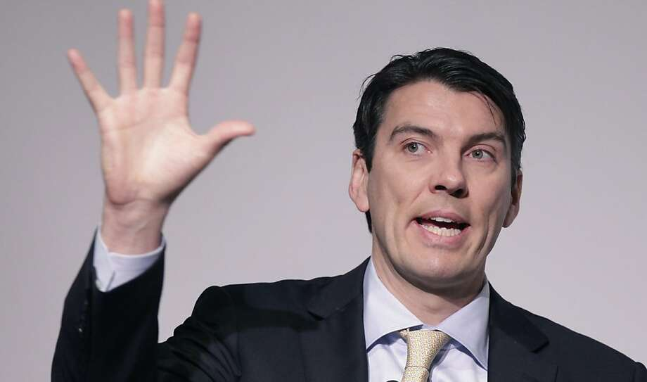 Tim Armstrong, Chairman and CEO of AOL, talks at a media summit, Thursday, March 10, 2011 in New York. (AP Photo/Mark Lennihan)  Ran on: 03-28-2011 Chairman and CEO Tim Armstrong says AOL sees its Palo Alto outpost as a center of creativity.   Ran on: 09-10-2011 AOL CEO Tim Armstrong is reportedly interested in Yahoo merger. Photo: Mark Lennihan, AP