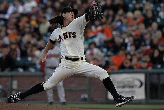 Giants starting pitcher Tim Lincecum throws in the first inning, as the San Francisco Giants take on the Arizona Diamondbacks at AT&T Park, in San Francisco, Ca., on Saturday September 3, 2011. Photo: Michael Macor, The Chronicle