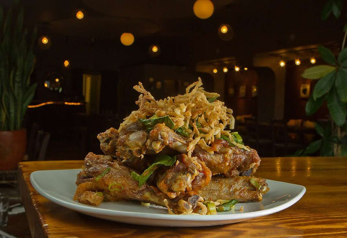 The crispy Duck Wings at Locavore restaurant in San Francisco, Calif., is seen on August 25th, 2011.