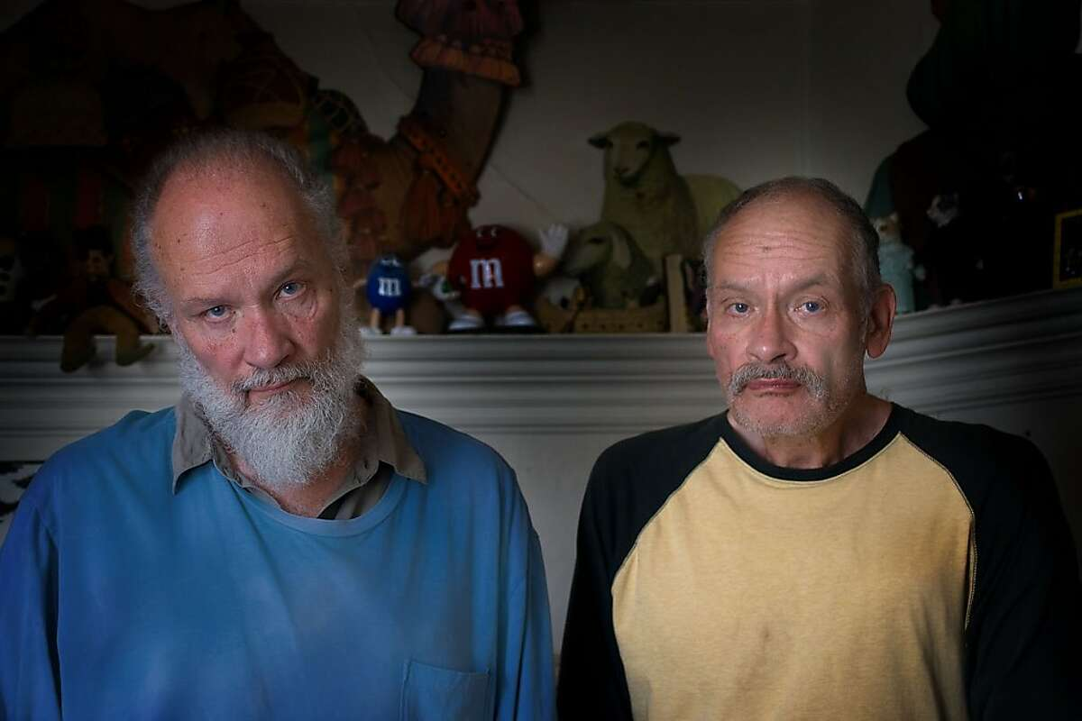 Mike and George Kuchar, the subjects of the documentary