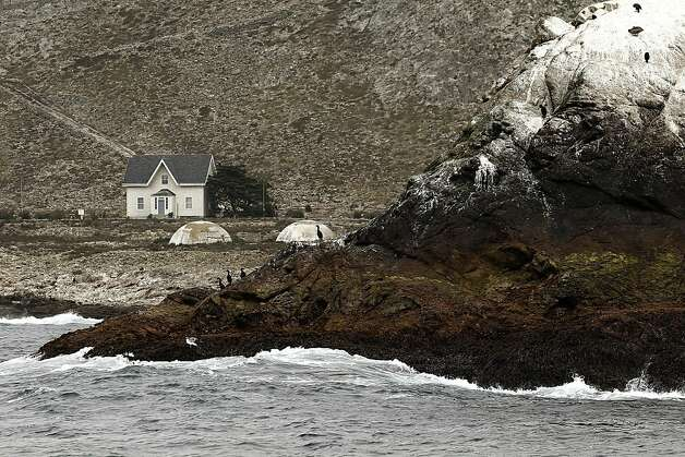 South East Farallon Island, off the coast of San Francisco, Ca., on Saturiday August 27, 2011. The Gulf of the Farallones boast some of the richest marine wildlife habitat, and these waters are some of the most heavily trafficked shipping lanes in the country. Over the past 10 years, ship strikes have become a major cause of death for blue whales and other large baleen whales, and ship strikes also account for one-third of the whale strandings Last year several endangered whales feeding beyond the Golden Gate were struck and killed in the shipping lanes. Photo: Michael Macor, The Chronicle
