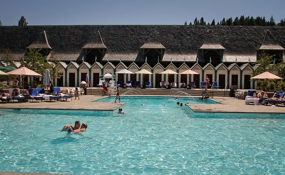 The pool at the Francis Ford Coppola Winery in Geyserville, Calif., is seen on July 22nd, 2011.