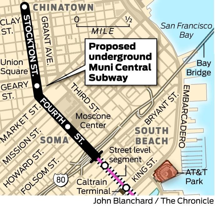 Sf Chronicle Classifieds: San Francisco's Central Subway To The Future