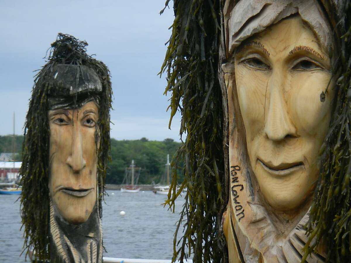 Belfast sculptor Ron Cowan carved the muses of