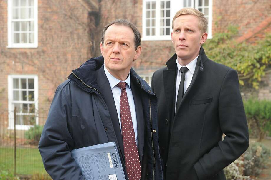 The fifth series of hit drama Lewis returns to ITV1 as Inspector Robbie Lewis and his partner DS Hathaway investigate more murders against the backdrop of Oxford and the surrounding beautiful countryside. PICTURED:  KEVIN WHATELY as DI Lewis and LAURENCE FOX as DS James Hathaway. Photo: Robert Day, ITV Studios