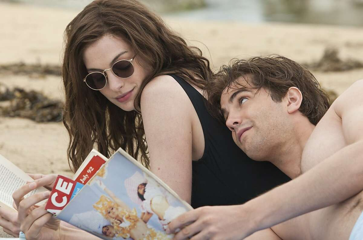 Anne Hathaway (left) and Jim Sturgess (right) star as Emma and Dexter in the romance ONE DAY, a Focus Features release directed by Lone Scherfig. Ran on: 08-19-2011 Anne Hathaway and Jim Sturgess play a couple who meet in 1988 and follow separate paths for years. Ran on: 09-04-2011 One Day, starring Anne Hathaway and Jim Sturgess, is good, but not a comedy.