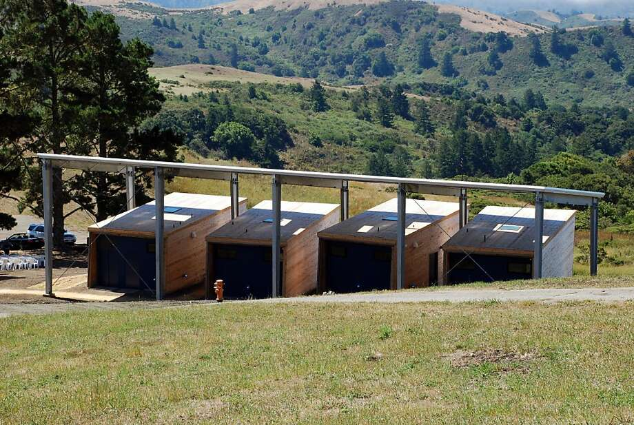The new Diane Middlebook Memorial Writer's Residence adds four spartan studios to the Djerassi Resident Artists Program outside Woodside. The architect is CCS Architecture. Photo: Melissa Werner/CCS Architecture