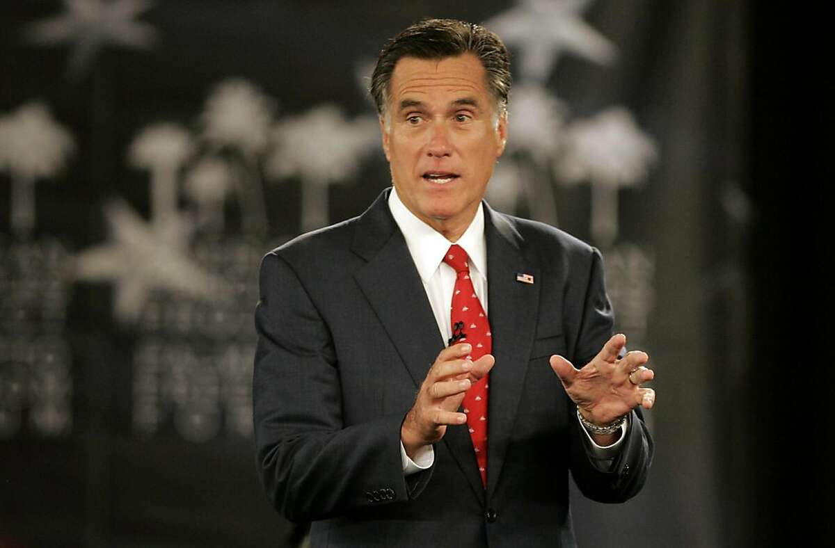 Republican presidential candidate former Massachusetts Gov. Mitt Romney speaks during the American Principles Project Palmetto Freedom Forum Monday, Sept. 5, 2011, in Columbia, S.C. (AP Photo/ Mary Ann Chastain) Ran on: 09-06-2011 Photo caption Dummy text goes here. Dummy text goes here. Dummy text goes here. Dummy text goes here. Dummy text goes here. Dummy text goes here. Dummy text goes here. Dummy text goes here.###Photo: gop06_PH31315094400FR170217 AP###Live Caption:Republican presidential candidate former Massachusetts Gov. Mitt Romney speaks during the American Principles Project Palmetto Freedom Forum Monday, Sept. 5, 2011, in Columbia, S.C.###Caption History:Republican presidential candidate former Massachusetts Gov. Mitt Romney speaks during the American Principles Project Palmetto Freedom Forum Monday, Sept. 5, 2011, in Columbia, S.C. (AP Photo- Mary Ann Chastain)###Notes:Mitt Romney###Special Instructions: Ran on: 09-06-2011 Photo caption Dummy text goes here. Dummy text goes here. Dummy text goes here. Dummy text goes here. Dummy text goes here. Dummy text goes here. Dummy text goes here. Dummy text goes here.###Photo: gop06_PH31315094400FR170217 AP###Live Caption:Republican presidential candidate former Massachusetts Gov. Mitt Romney speaks during the American Principles Project Palmetto Freedom Forum Monday, Sept. 5, 2011, in Columbia, S.C.###Caption History:Republican presidential candidate former Massachusetts Gov. Mitt Romney speaks during the American Principles Project Palmetto Freedom Forum Monday, Sept. 5, 2011, in Columbia, S.C. (AP Photo- Mary Ann Chastain)###Notes:Mitt Romney###Special Instructions: