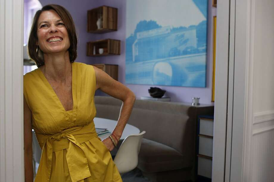 Dorka Keehn stands in a doorway in her house where many pieces of furniture are that she designed in San Francisco Calif.,  on July 21, 2011. Photo: Audrey Whitmeyer-Weathers, The Chronicle