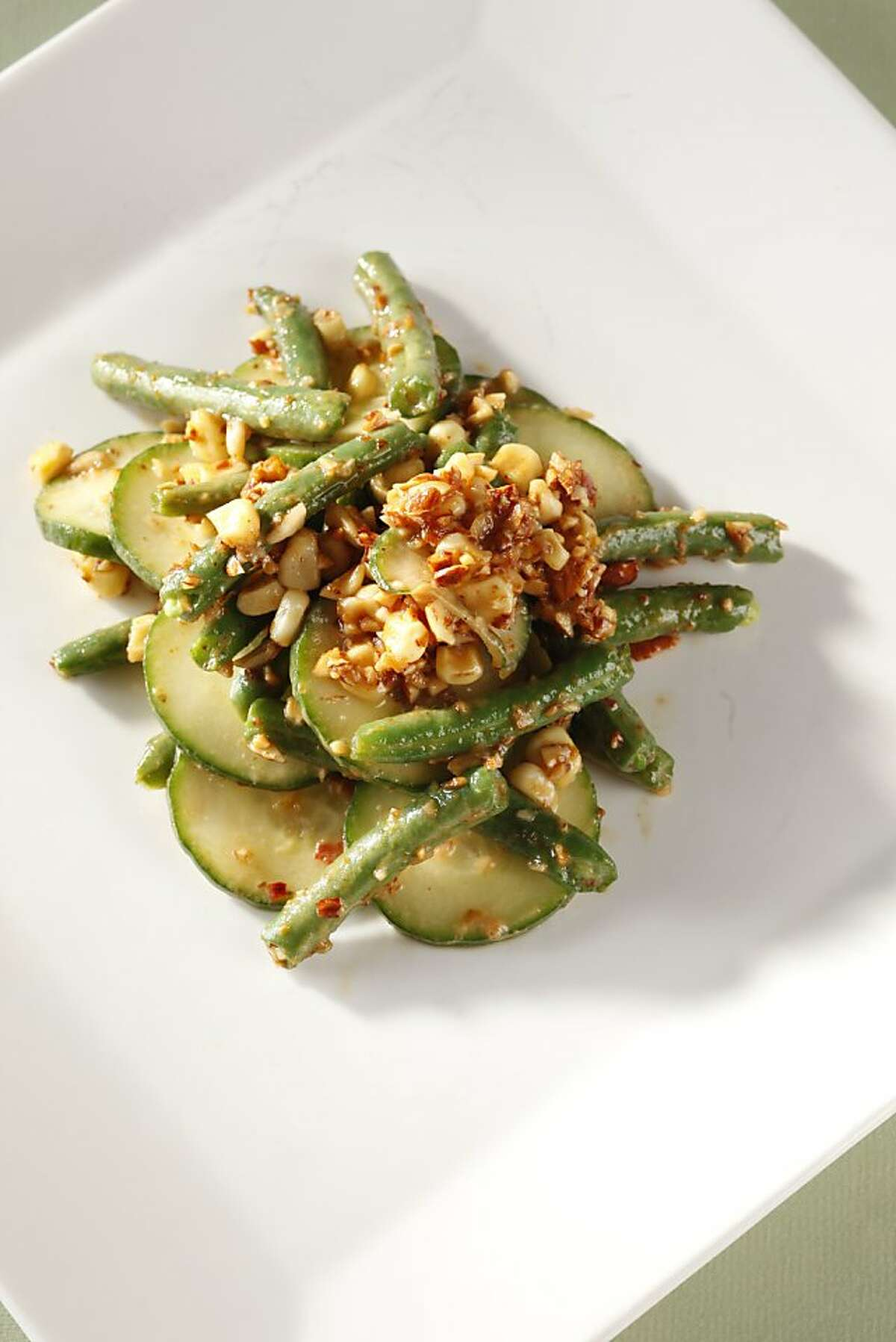 Thai-inspired green bean and corn salad as seen in San Francisco, California, on Wednesday, August 10, 2011. Food styled by Rochelle Vurek.
