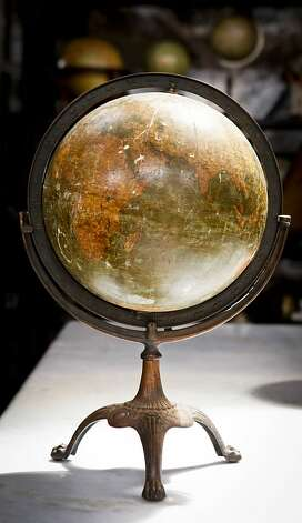 An antique globe is seen in Big Daddy's Antiques on Monday, Aug. 1, 2011 in San Francisco, Calif. Photo: Russell Yip, The Chronicle