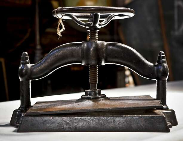 A book press is seen in Big Daddy's Antiques on Monday, Aug. 1, 2011 in San Francisco, Calif. Photo: Russell Yip, The Chronicle