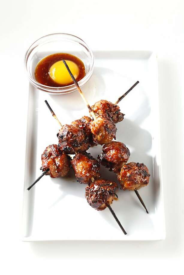 Tsukune (skewered chicken meatballs from Chotto chef, Armand Justo) as seen in San Francisco, California, on Wednesday, July 6, 2011. Food styled by Rochelle Vurek. Photo: Craig Lee, Special To The Chronicle