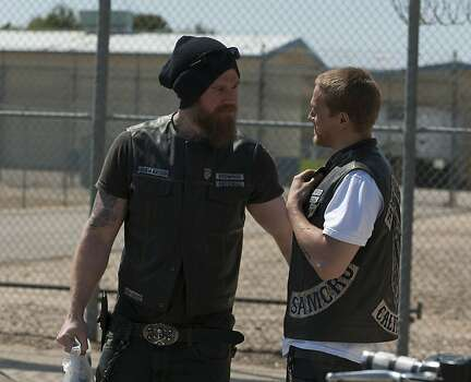 "L-R: Ryan Hurst and Charlie Hunnam on FX's ""Sons of Anarchy."" Photo: Prashant Gupta, FX"