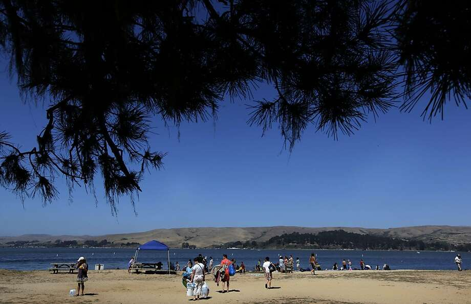 Visitors fill Heart's Desire Beach at Tomales Bay State Park on Saturday August 13, 2011, in Point Reyes, Ca. Tomales Bay is one of three local State Parks on the closure list which may shut down due to California budget cuts. Photo: Michael Macor, The Chronicle