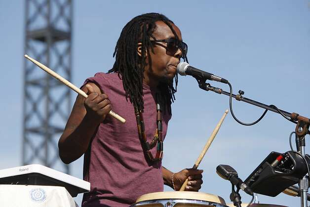 Tendai Maraire of Shabazz Palaces performs at the Treasure Island Music Festival in San Francisco, Calif., on Saturday, Oct. 15, 2011. Photo: Dylan Entelis, The Chronicle
