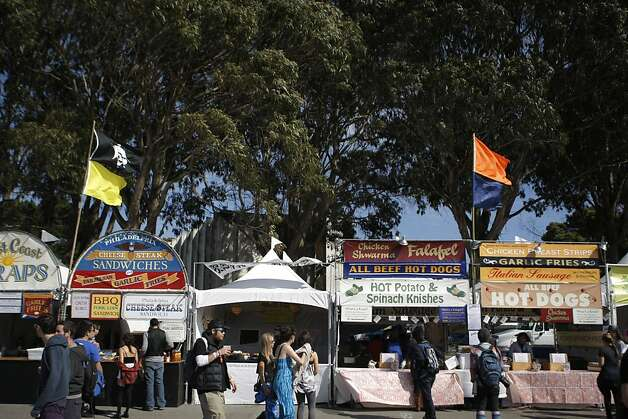 Eateries at the Treasure Island Music Festival in San Francisco, Calif., on Saturday, Oct. 15, 2011. Photo: Dylan Entelis, The Chronicle