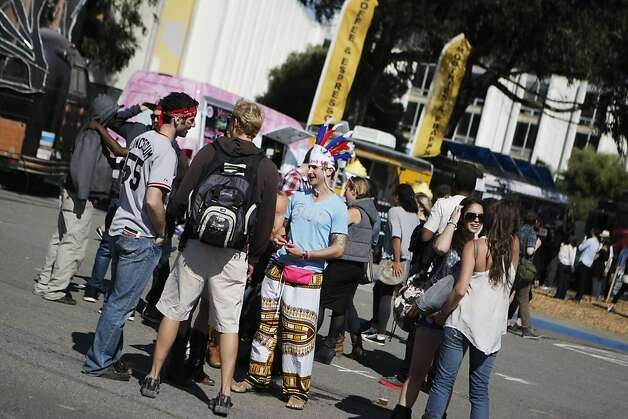 The scene at the Treasure Island Music Festival in San Francisco, Calif., on Saturday, Oct. 15, 2011. Photo: Dylan Entelis, The Chronicle