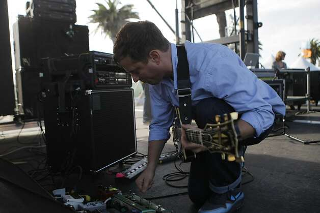 Battles performs at the Treasure Island Music Festival in San Francisco, Calif., on Saturday, Oct. 15, 2011. Photo: Dylan Entelis, The Chronicle