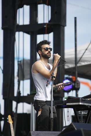 The band Geographer performs at the Treasure Island Music Festival in San Francisco, Calif., on Saturday, Oct. 15, 2011. Photo: Dylan Entelis, The Chronicle