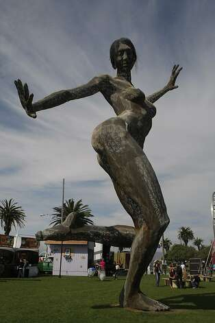 A giant sculpture at the Treasure Island Music Festival in San Francisco, Calif., on Saturday, Oct. 15, 2011. Photo: Dylan Entelis, The Chronicle