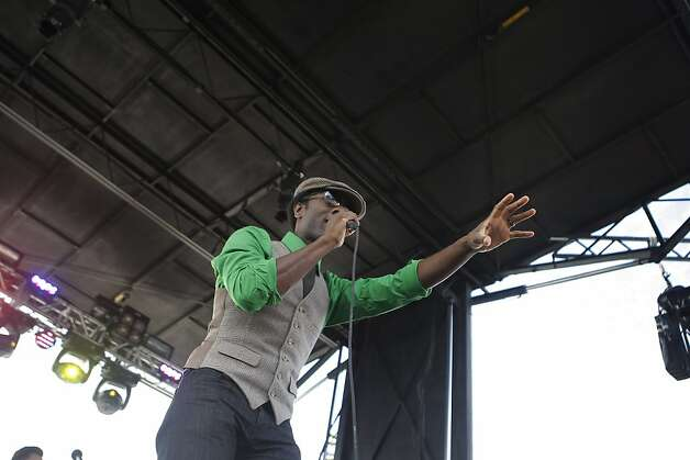 The artist Aloe Blacc performs at the Treasure Island Music Festival in San Francisco, Calif., on Saturday, Oct. 15, 2011. Photo: Dylan Entelis, The Chronicle