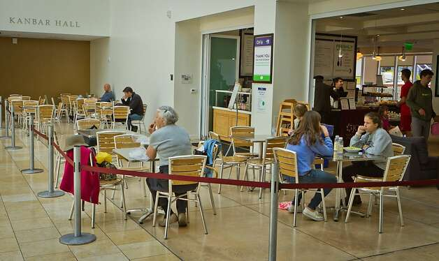 People enjoy lunch at the JCC Cafe San Francisco, Calif., on Friday, August 5th, 2011. Photo: John Storey, Special To The Chronicle