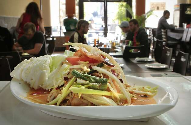 The shredded Green Papaya Salad at Lers Ros Restaurant  in San Francisco, Calif., on July 23rd, 2011. Photo: John Storey, Special To The Chronicle