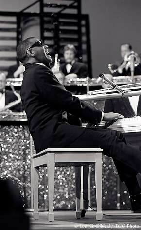 "This 1969 photo of Ray Charles was taken during a rehearsal for his appearance on ""The Smothers Brothers Comedy Hour."" Photo: Tom G. O'Neal, TGO Photo"