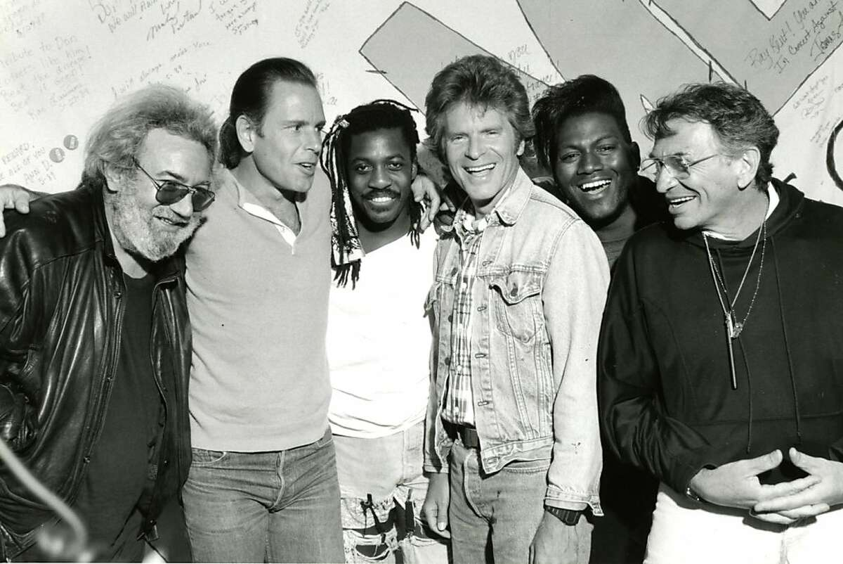 Click through this slideshow to see photos of three decades of Bay Area music festivals. Jerry Garcia, Bob Weir, Steve Jordan, John Fogerty and Randy Jackson (with Bill Graham) performed at In Concert Against Aids. May 29, 1989.