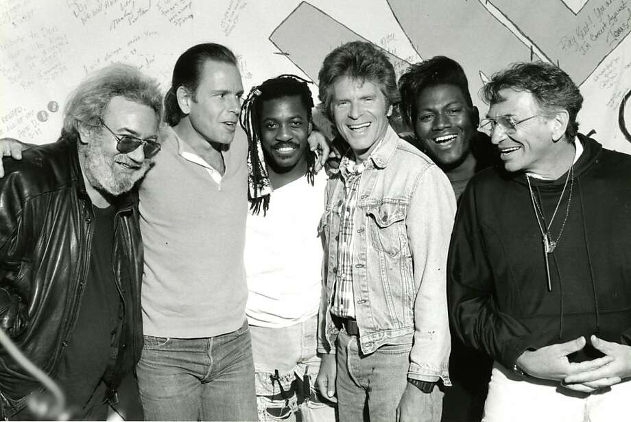 Click through this slideshow to see photos of three decades of Bay Area music festivals.Jerry Garcia, Bob Weir, Steve Jordan, John Fogerty and Randy Jackson (with Bill Graham) performed at In Concert Against Aids. May 29, 1989. Photo: Courtesy KRON
