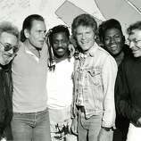 Jerry Garcia, Bob Weir, Steve Jordan, John Fogerty and Randy Jackson (with Bill Graham) performed at In Concert Against Aids. May 29, 1989.