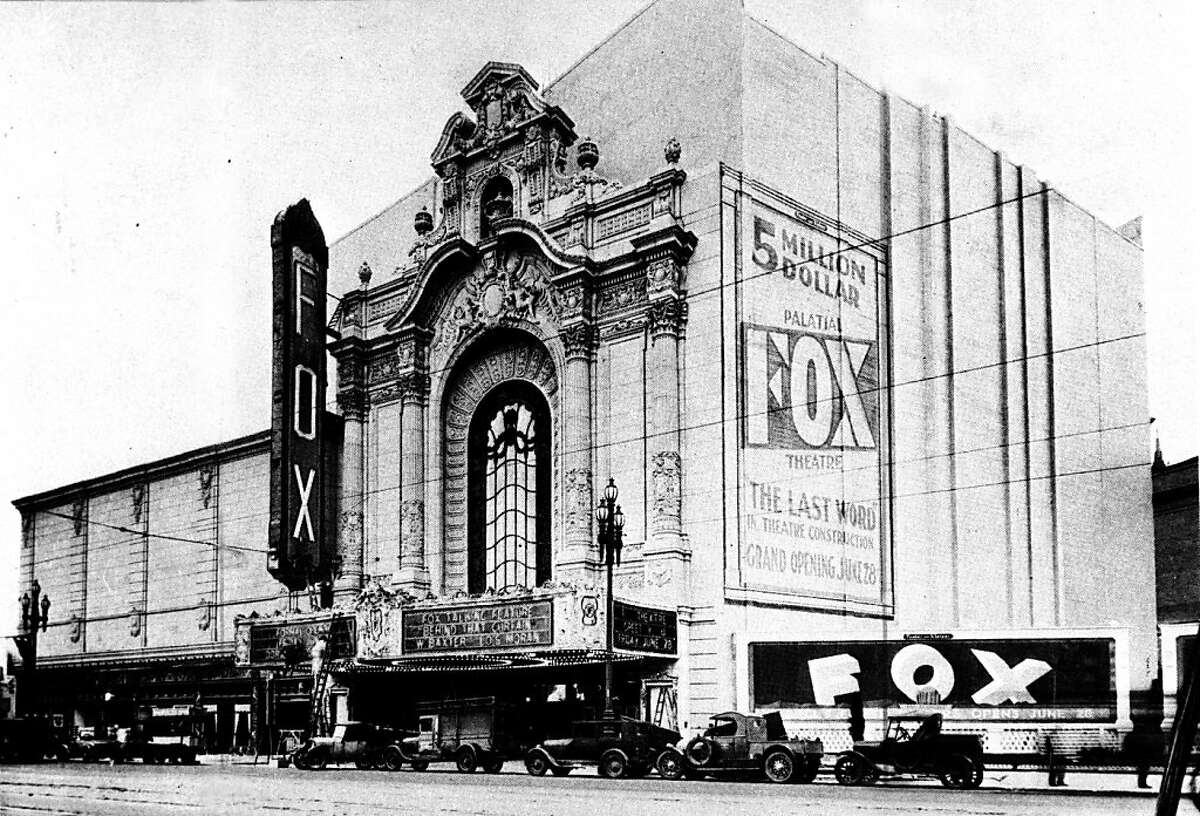 The Fox Theatre on Market Street before its grand opening. Photographer unknown.