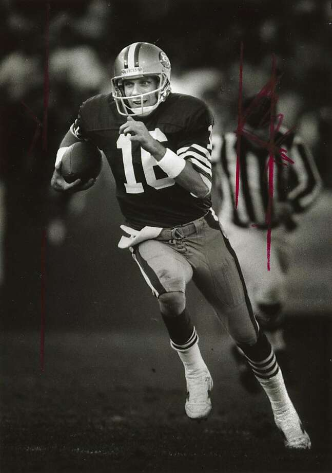 12-07-1986 - Joe Montana runs for a first down in the 3rd quarter against the New York Jets. Ran on: 01-27-2008   Ran on: 08-15-2010 Photo caption Dummy text goes here. Dummy text goes here. Dummy text goes here. Dummy text goes here. Dummy text goes here. Dummy text goes here. Dummy text goes here. Dummy text goes here.###Photo: 49ers15_PH_joe1189987200###Live Caption:###Caption History:12-07-1986 - Joe Montana runs for a first down in the 3rd quarter against the New York Jets.__Ran on: 01-27-2008###Notes:###Special Instructions:   Ran on: 08-14-2011 In his 1986 book, Joe Montana complained about the press. Photo: Frederic Larson, The Chronicle