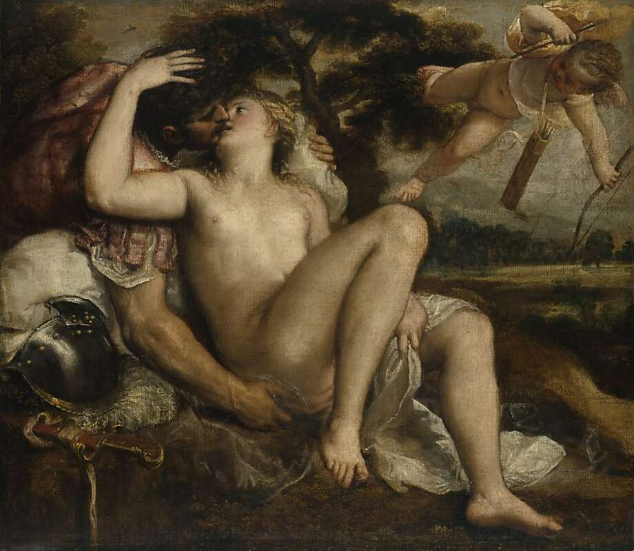 Tiziano Vecellio, called Titian (ca. 1488–1576) Mars, Venus, and Cupid, 1550s Oil on canvas. Gemäldegalerie of the Kunsthistorisches Museum, Vienna  GG_13_2.tif Photo: Kunsthistoriches Museum